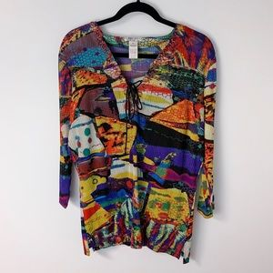 Alberto Makali Multi Colored Women's Blouse